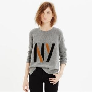 Madewell cotton sweater with suede NY